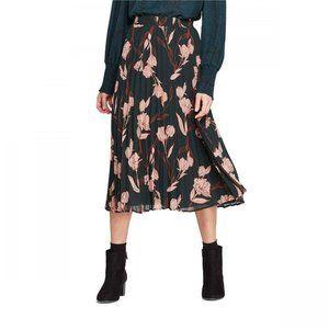 NWT A New Day Pleated Midi Skirt XL Green